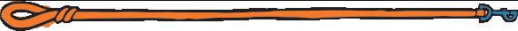 orange leash illustration